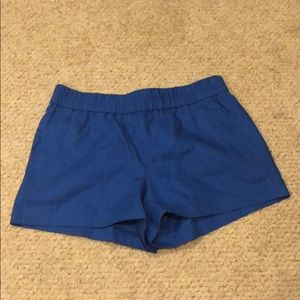J. Crew royal blue elastic waist shorts. Size 2.